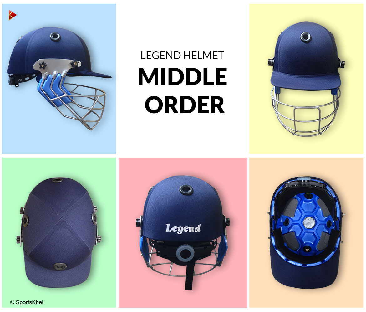 Middle Order Legend Cricket Helmet Closeup Collection