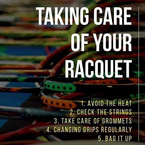 Badminton Racket Maintenance