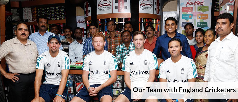 Sportskhel Team with England Cricketers