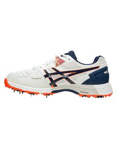 Asics Gel 300 Not Out Spikes Cricket Shoes White Blue Expanse