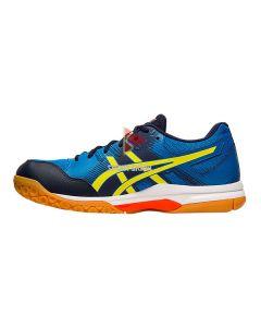 Asics Gel Rocket 9 Shoes Electric Blue Sour Yuzu