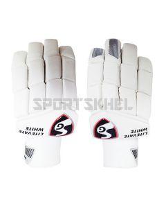 SG Litevate White Batting Gloves Junior
