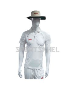 RNS Regular White Half Sleeve Cricket T-Shirt