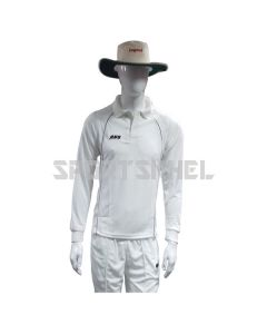 RNS Premium White Full Sleeve Cricket T-Shirt