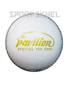 The Pavilion Special Leather White Cricket Ball (6 Ball)