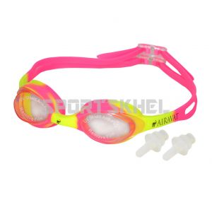Airavat 1001 Swimming Goggles Pink Yellow