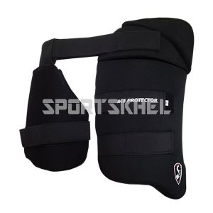 SG Ace Protector Black Thigh Pads Men (Combo)