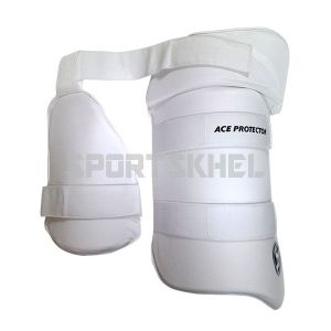 SG Ace Protector White Thigh Pads Junior (Combo)