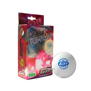 GKI Euro Plastic 40+ White Table Tennis Ball