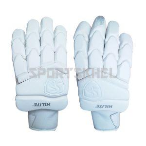 SG Hilite White Batting Gloves Men