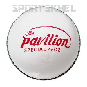 The Pavilion Special Leather Junior 4 3/4 OZ White Cricket Ball (6 Ball)