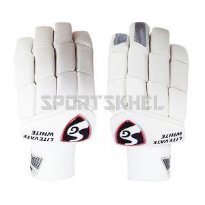 SG Litevate White Batting Gloves Men