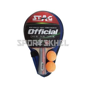 Stag Official with 2 Balls Table Tennis Bat