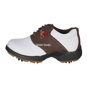 Pro Ase Sense Golf Shoes White Brown