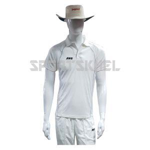 RNS Premium White Half Sleeve Cricket T-Shirt