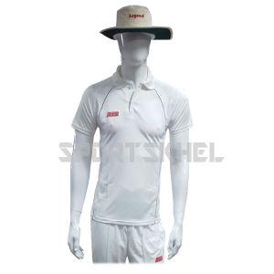 RNS Regular White Half Sleeve Cricket T-Shirt
