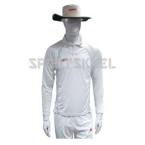 RNS Regular White Full Sleeve Cricket T-Shirt