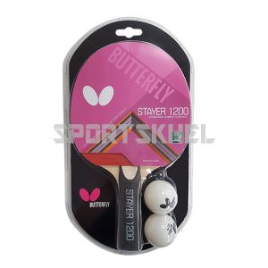 Butterfly Stayer 1200 Table Tennis Bat With 2 Balls