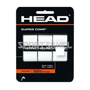 Head Super Comp Tennis Grip (3 Wraps, White)