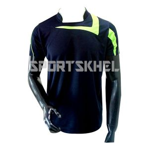 Cenmax Navy Neon Green Half Sleeve T-Shirt