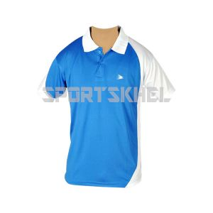 Cenmax Royal Blue White Half Sleeve T-Shirt