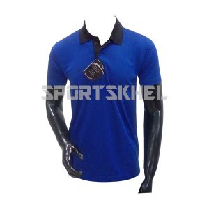 Cenmax Royal Blue Black Half Sleeve T-Shirt