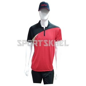 Cenmax Red Black Fone Half Sleeve T-Shirt