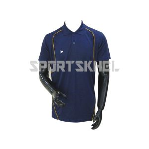 Cenmax Navy Gold Yellow Half Sleeve T-Shirt