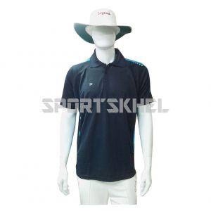 Cenmax Navy Aqua Half Sleeves T-Shirt