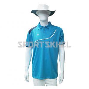 Cenmax Aqua Violet White Half Sleeves T-Shirt