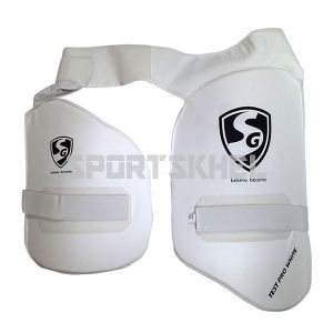 SG Test Pro White Thigh Pads Junior (Combo)