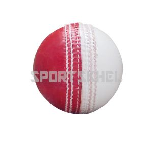 The Pavilion Special Leather Half Red White Cricket Ball (6 nos)