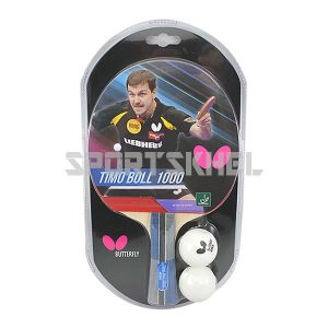 Butterfly Timo Boll 1000 Table Tennis Bat With 2 Balls