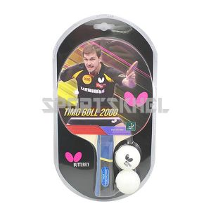 Butterfly Timo Boll 2000 Table Tennis Bat With 2 Balls