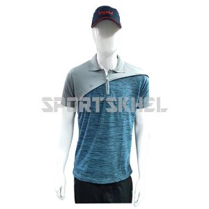Cenmax Millange Blue Millange Grey Half Sleeves T-Shirts