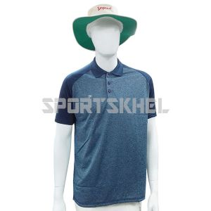 Cenmax Millange Blue Navy Half Sleeves T-Shirt
