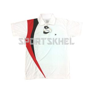 Cenmax White Red Black Half Sleeve T-Shirt