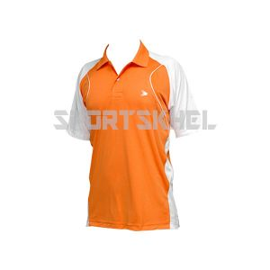 Cenmax Orange White Half Sleeve T-Shirt