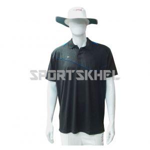 Cenmax Black Royal Blue Half Sleeves T-Shirt