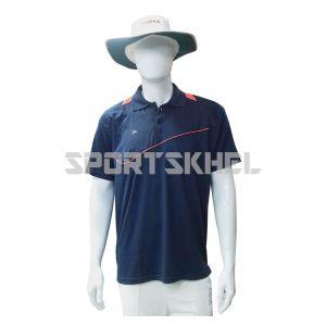 Cenmax Navy Navy Orange Half Sleeves T-Shirt