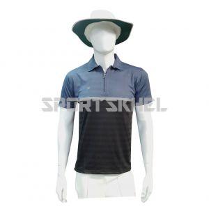 Cenmax Black Airforce Silver Half Sleeves T-Shirt