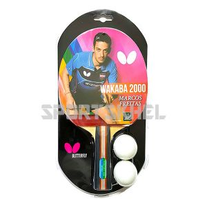 Butterfly Wakaba 2000 Table Tennis Bat With 2 Balls