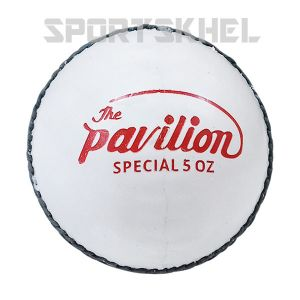 The Pavilion Special Leather Women 5 OZ White Cricket Ball (6 Balls)