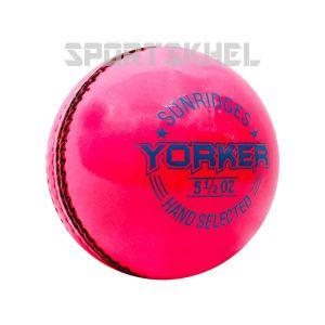 SS Yorker Pink Cricket Ball