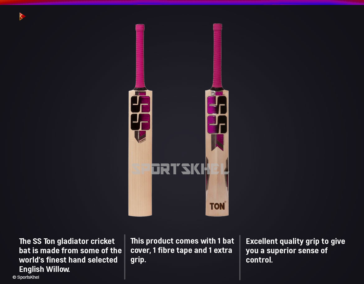 SS Gladiator Cricket Bat Features