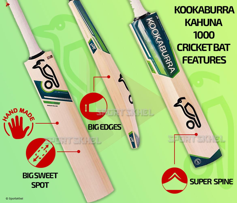Kookaburra Kahuna 1000 Cricket Bat Features