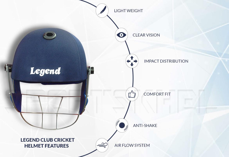 Legend Club Cricket Helmet Features