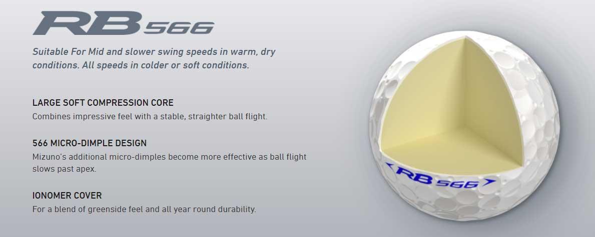 Mizuno RN 566 Golf Ball Features
