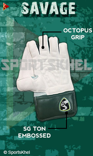SG Savage Wicket Keeping Gloves Men Features