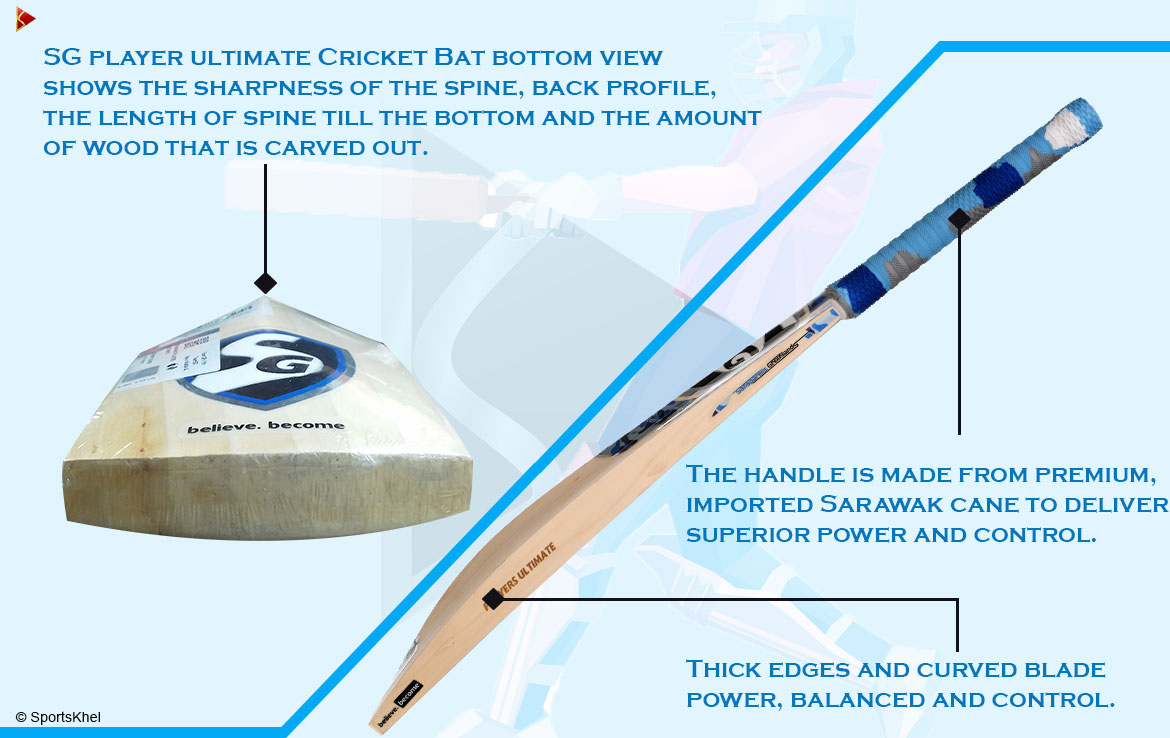 SG Players Ultimate English Willow Cricket Bat Features
